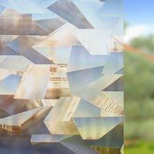 WXSHSH Irregular PVC Waterproof Window Cover Films No-Glue 3D Static Decorative Privacy Glass Sticker 30*100 Cm