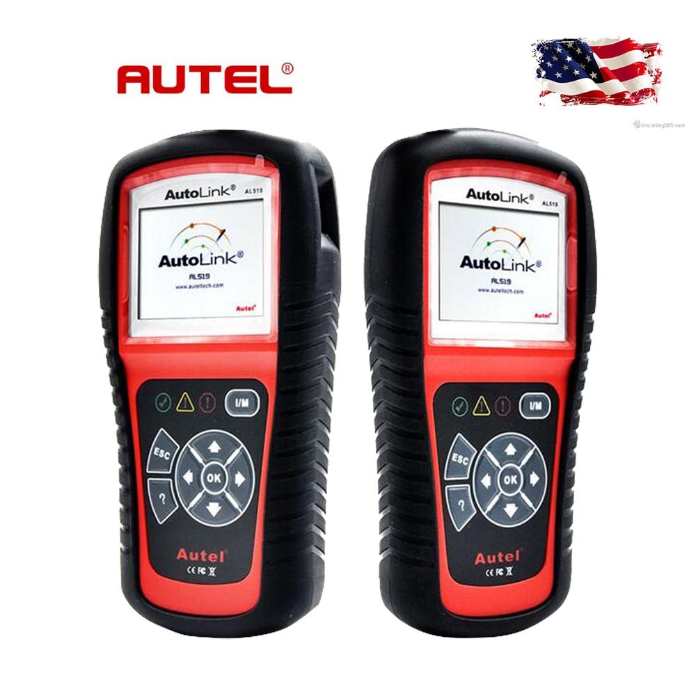 100 Original AUTEL AL519 OBD2 Scanner AutoLink Fault Code Reader Support All OBD2 CAN EOBD JOBD