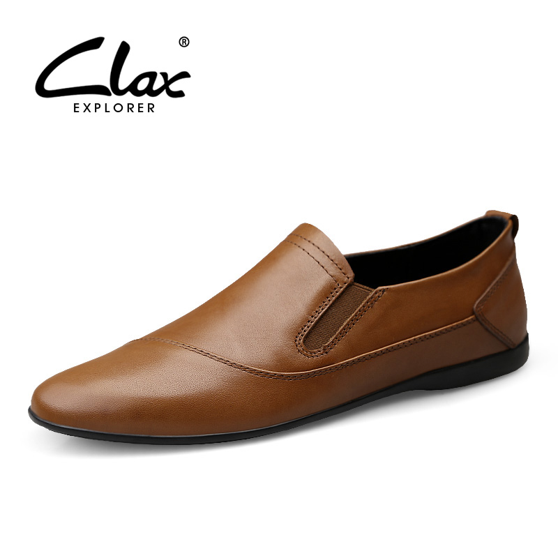 CLAX Men Shoes Leather 2019 Genuine Leather Casual Shoe Male Boat Footwear Mans Moccasin Soft Breathable