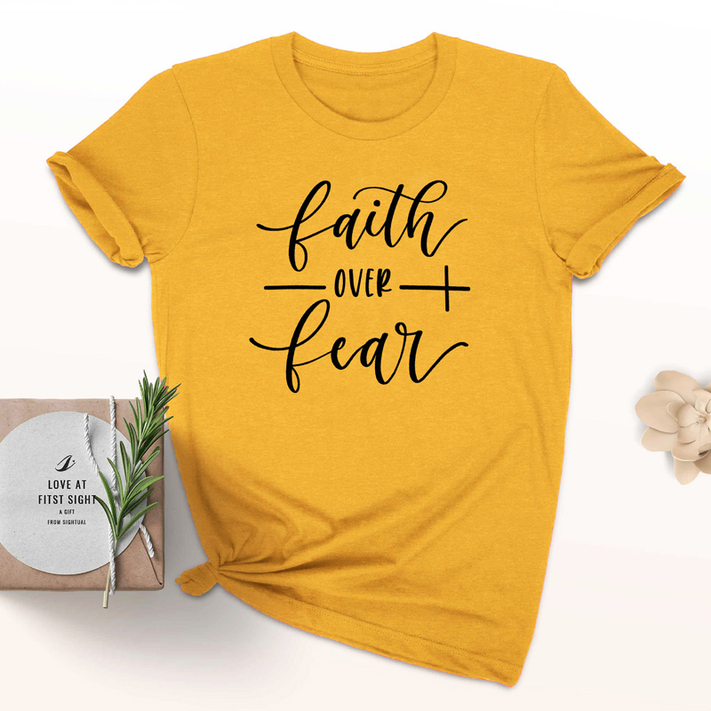 Faith Over Fear Christian T-Shirt 20