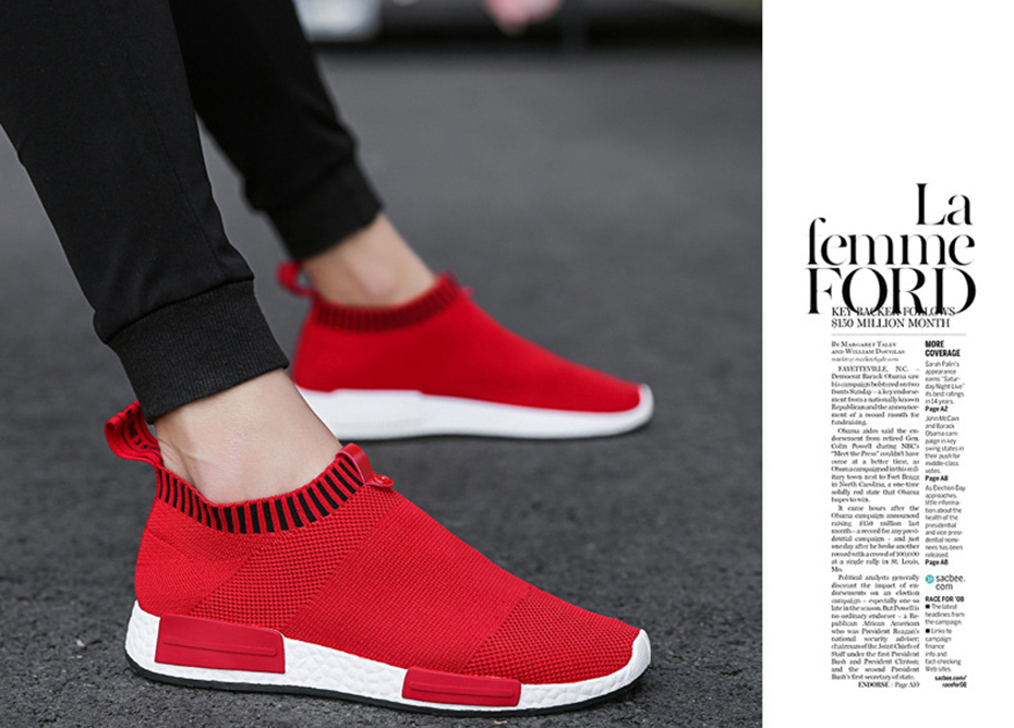 HTB1poa8cEuF3KVjSZK9q6zVtXXaa Cork Men Shoes Sneakers Men Breathable Air Mesh Sneakers Slip on Summer Non-leather Casual Lightweight Sock Shoes Men Sneakers
