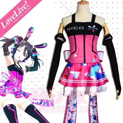 Love Live Videogame Awakening Yazawa Nico Fashion Party Lolita Dress Cosplay Costumes Any Size NEW