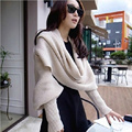 2016 new Special Korean men&Women winter scarf lovely double-thick wool scarves with gloves