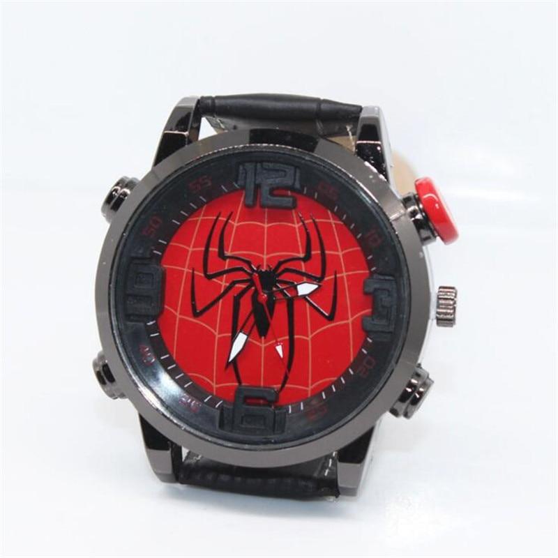 Movie Superhero Spider-Man Cosplay Props Students Fashion Watch