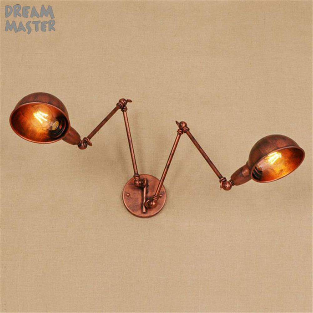 Loft Industrial iron wall sconces rust retro wall lamps Vintage E27 sconce wall lights for living room bedroom barLoft Industrial iron wall sconces rust retro wall lamps Vintage E27 sconce wall lights for living room bedroom bar