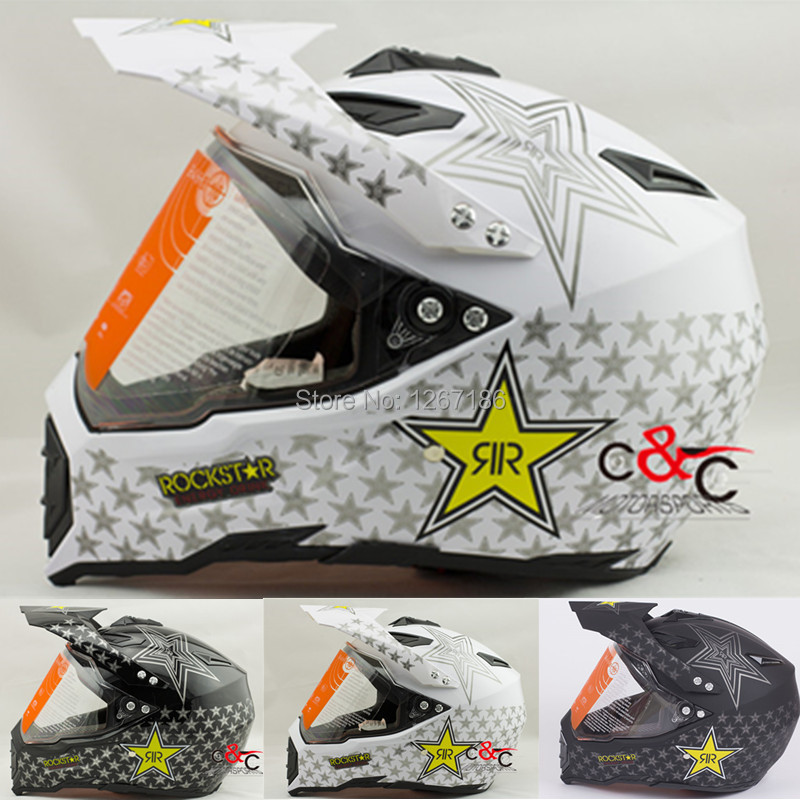 cheap free shipping winderproof rockstar moto cross casco casque capacete motorcycle helmet atv. Black Bedroom Furniture Sets. Home Design Ideas