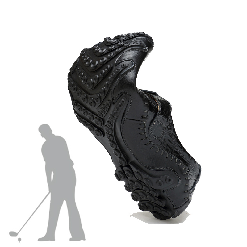 Leather Golf Shoes Mens Waterproof Nailless GOLF Shoes Lightweight Wear-resistant Breathable Outdoor Sports Shoes Large Size 46Leather Golf Shoes Mens Waterproof Nailless GOLF Shoes Lightweight Wear-resistant Breathable Outdoor Sports Shoes Large Size 46