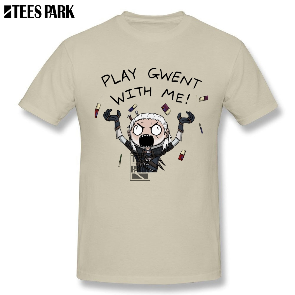 דפוס דיגיטלי חולצות T Witcher Gwent פאנקי חולצות T איש צווארון עגול שרוול קצר חולצות שרוול ביגוד פופ המצחיק של גברים גברים