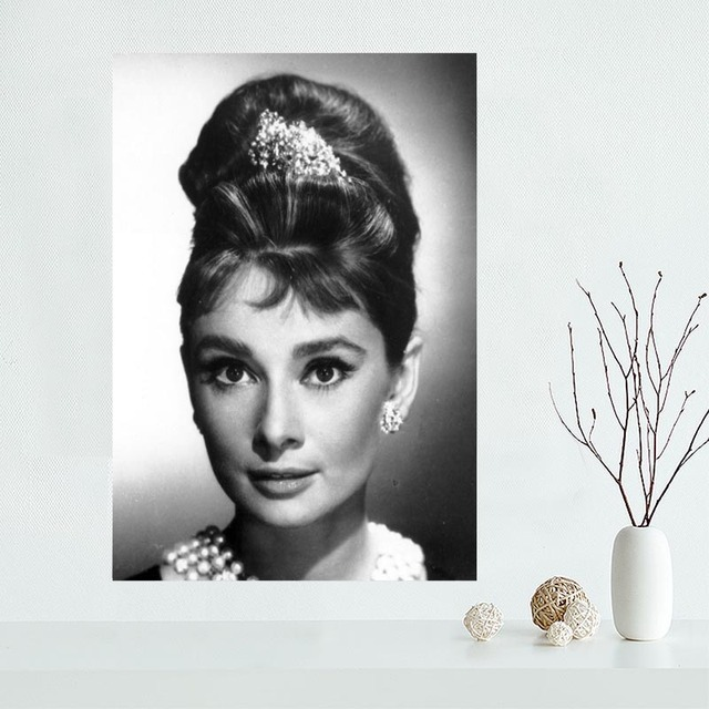 Audrey Hepburn Canvas Poster Custom Canvas Painting Poster print ...