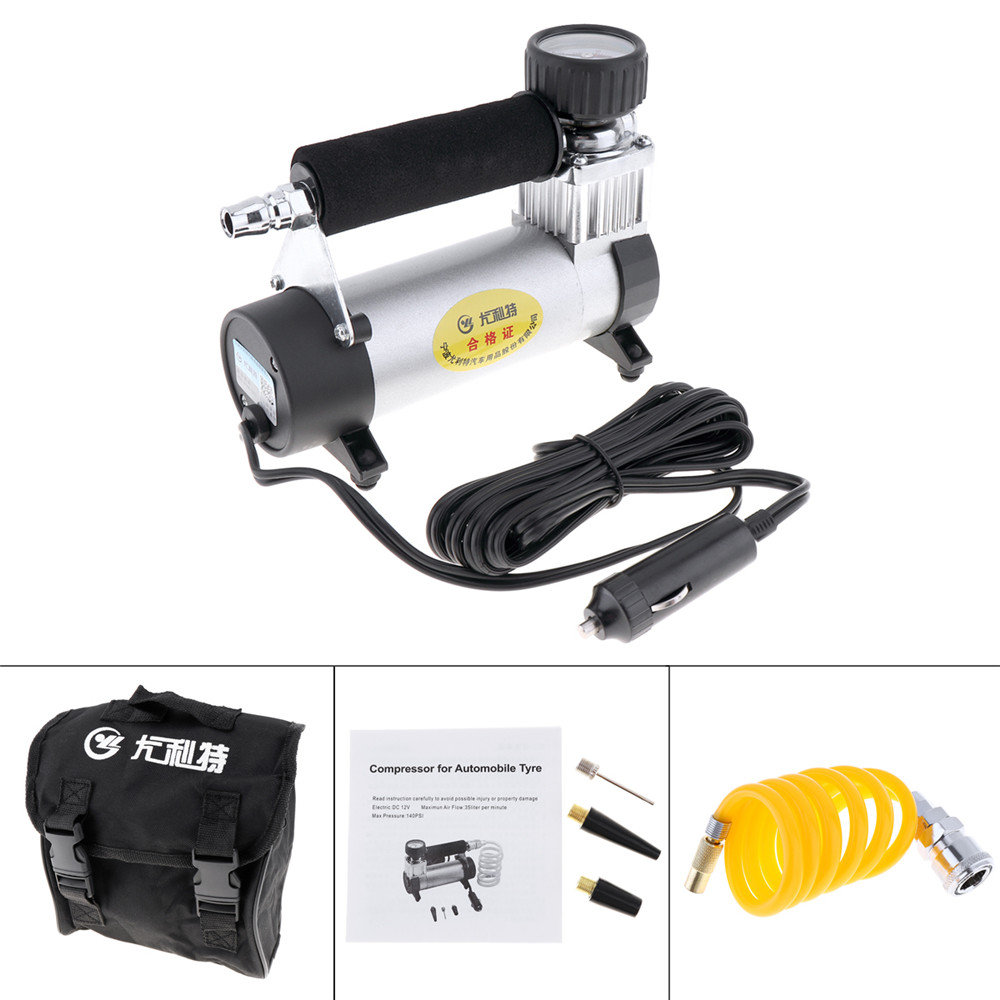 Image 2 - DC 12V Auto Car Tire Inflator 100PSI Car Air Pump 35 L/MIN Car Pumps 100W Air Compressor for Car Bicycles Motorcycles-in Inflatable Pump from Automobiles & Motorcycles