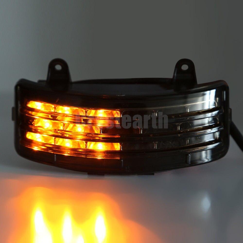 Crystream Rear Fender Smoke LED Brake Taillight Tail light Turn Signals Lamp Light For Harley Touring FLHX FLTRX Street Glide