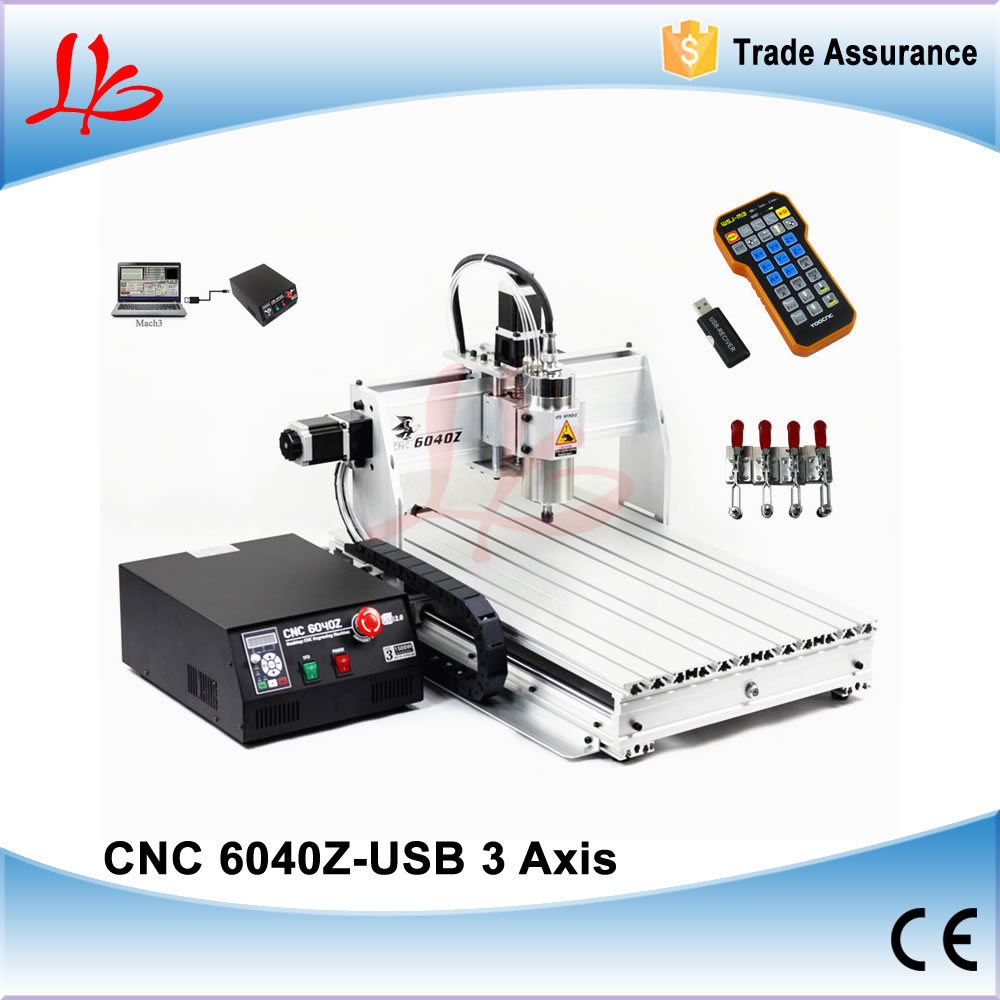 2.2KW Spindle CNC Milling Machine CNC 6040 USB With CNC Controller Mach3 Wireless Control for CNC Metal Engraving Machine