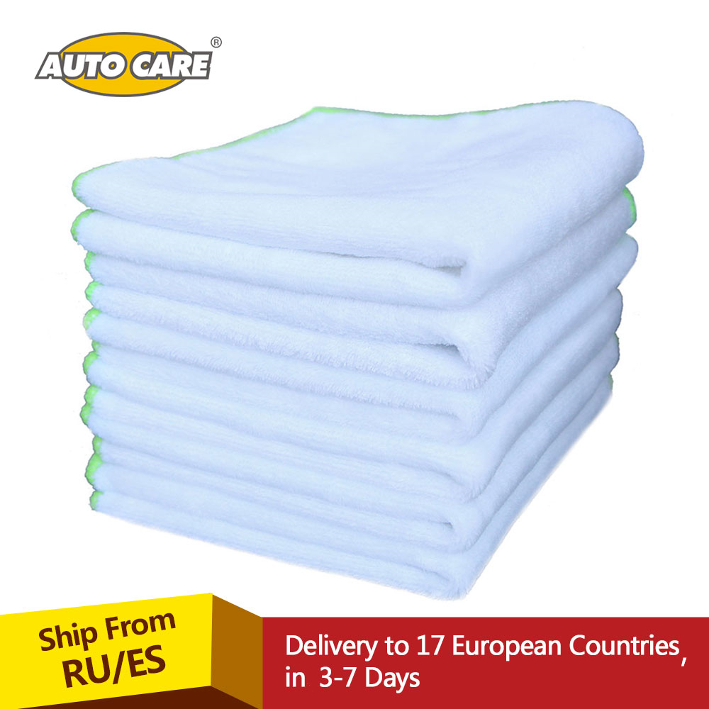 6pcs Ultra Soft Microfiber Spa Towel Car Polish develop a deep shine on Painted Finishes Wax Removal Car Cleaning 35*35cm planet waves pw pl 01 restore deep cleaning cream polish