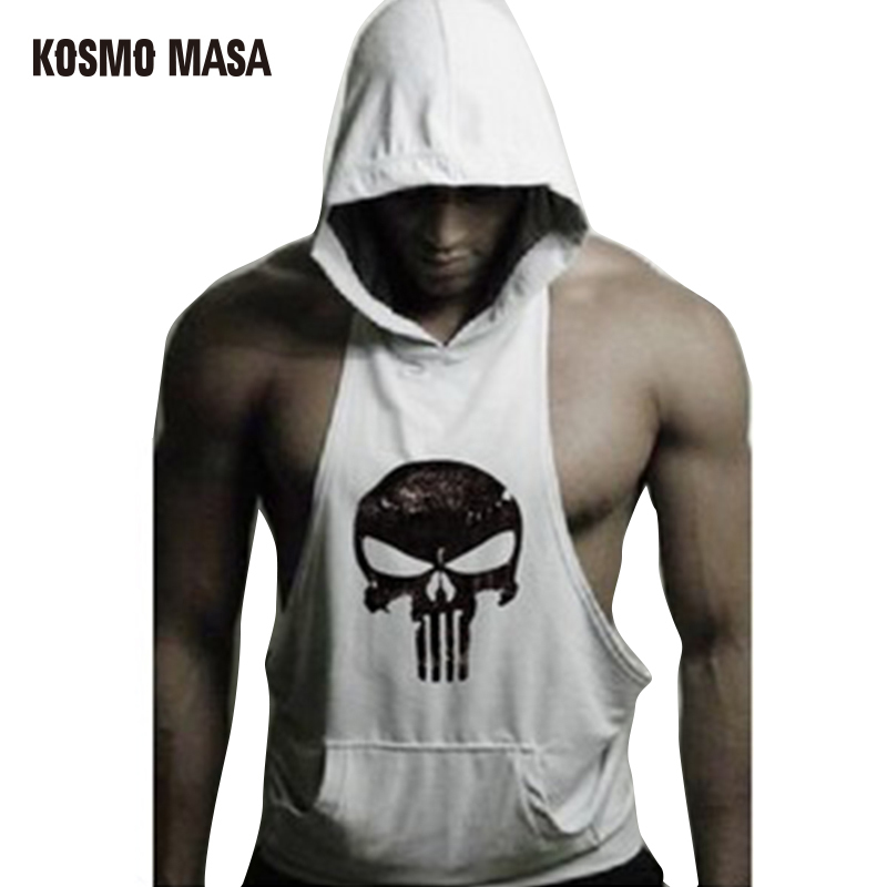 KOSMO MASA 2017 Cotton Hoody Solid   Tank     Tops   For Men Bodybuilding   Tank     Top   Singlet Fitness Muscle Summer Jerseys Vests MC0232