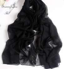 ponchos and capes Blanket silk scarf winter black scarfs 100% real silk shawls headscarf scarves designer pashminas arab hijab
