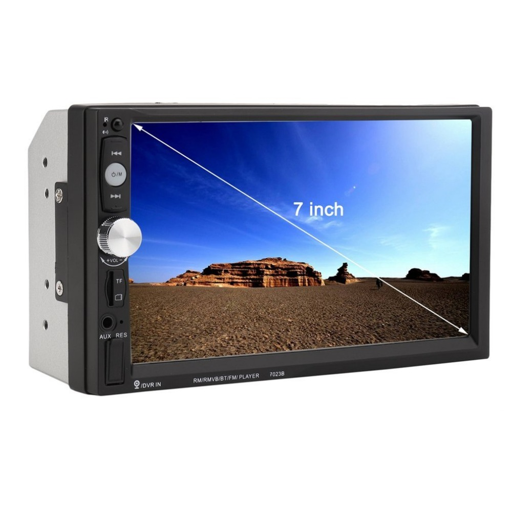 Universal 7023B Car DVD Player 7 Inch Bluetooth Car MP5 Player FM Radio With Rear View Camera Stereo Multimedia Vehicle Radio new 7 inch 2din bluetooth car radio video mp5 player auto radio fm 18 channel hd 1080p in dash remote control rear view camera