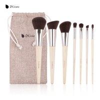 DUcare 7Pcs Professional Makeup Brushes Set Bamboo Handle Make Up Brush Foundation Eyeshadow Brush With Bag