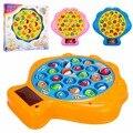 Plástico juguetes eléctricos de pesca conjunto con la música grande de rotación 3D Light vieira placa patrón clásico juguetes educativos para niños
