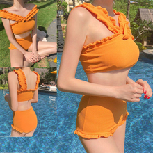 High Waist swimsuit Bikini Swimsuit Women Swimwear Bathing Suit Girl summer beach dress stroj kapielowy swimming suit for
