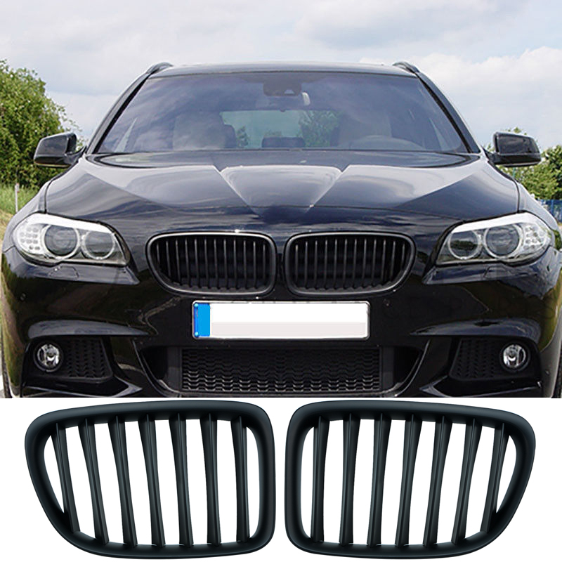 1Set Upgrade Euro Sport Gloss Black Front Slat Grilles SUV Kindly Grill For BMW E84 X1 2010 - 2015 Car Styling цена