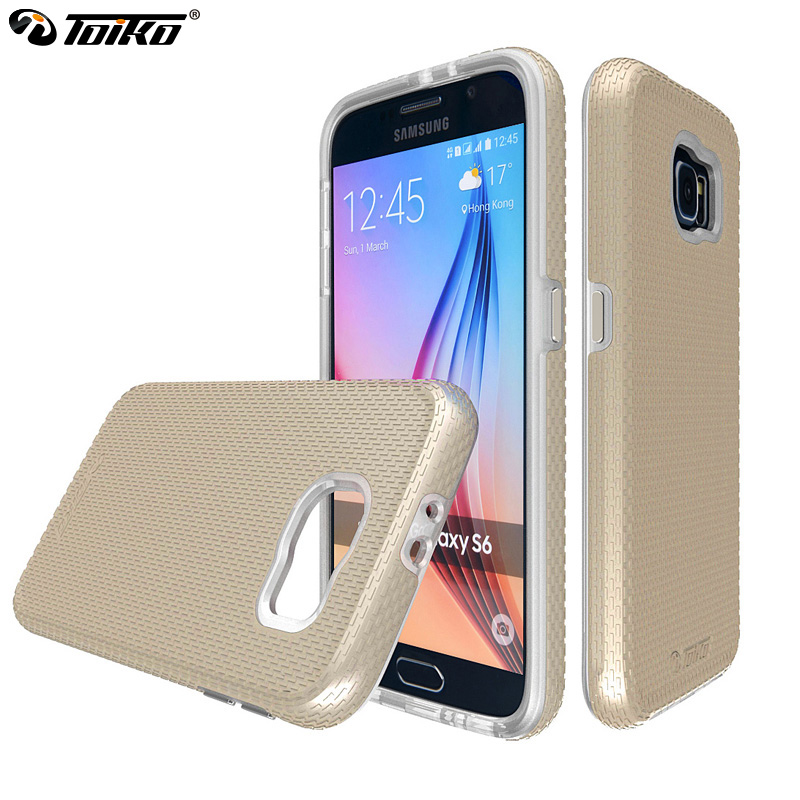 TOIKO X Guard TPU PC Back Cover Case for Samsung Galaxy S6 Dual Layer Shockproof Phone Accessories Shell Hybrid Protective Armor