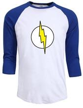 Homme streetwear t-shirt raglanärmel sheldon cooper super hero green lantern die flash cosplay t shirts männer geek mann t-shirt