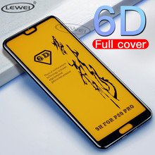 LEWEI 6D Full Curved Tempered Glass on the for Huawei Honor 7X 8X 8C 8A Cover Glue Screen Protector Protective Film