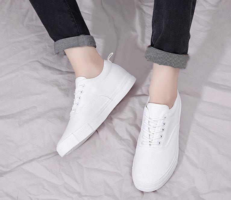 Blanc Lacets Qualité Chaussures À Hommes Printemps Noir Vulcaniser Plates De Black Toile Homme Automne Haute Mode Sport white 0XOndqww