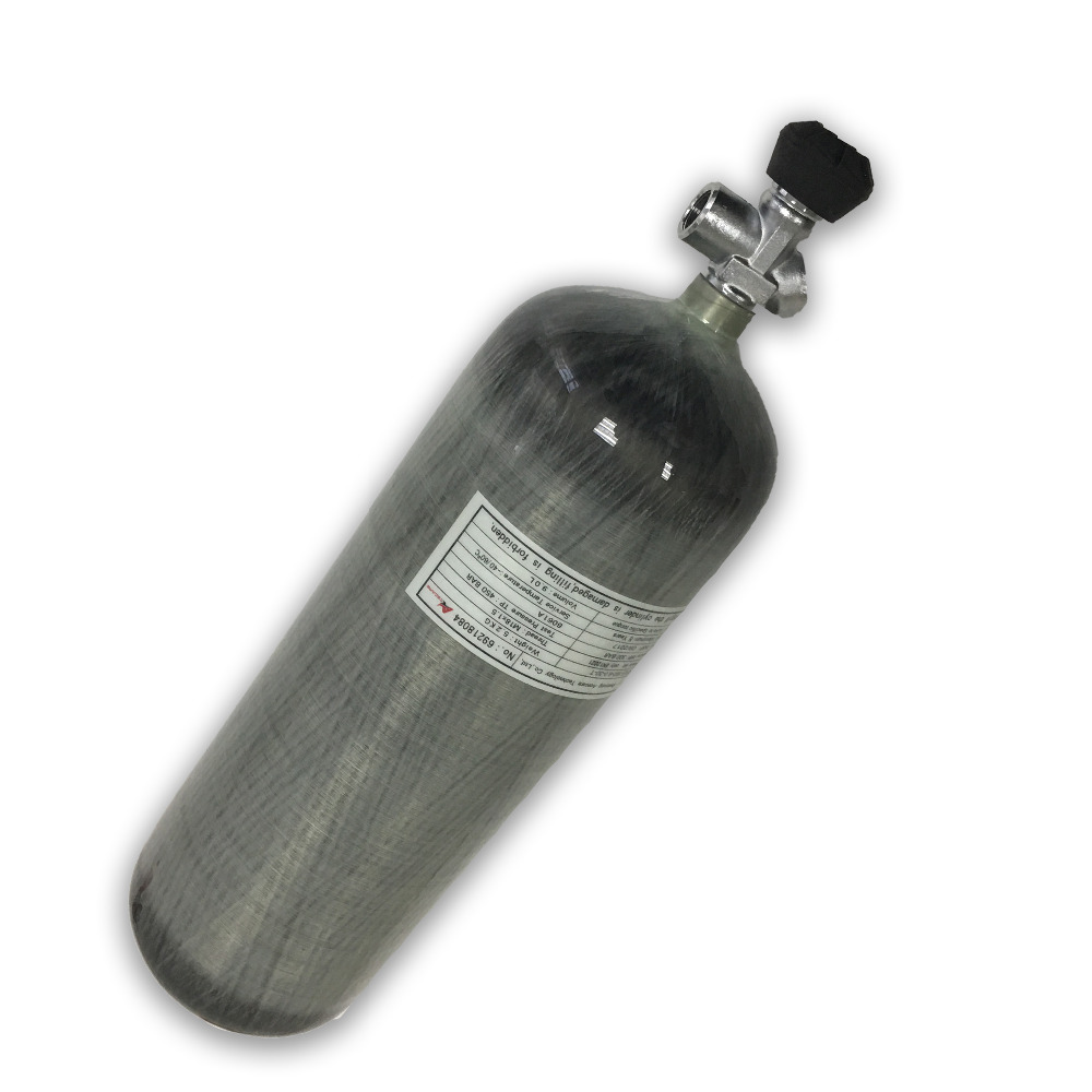 AC10931 9L CE 4500psi HP Carbon Fiber SCBA PCP Air Gun Inflate Tank Gas Cylinder For Compressed Air Rifle Drop Shipping Acecare