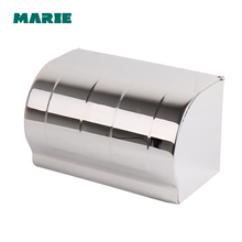 Ultra long stainless steel toilet paper box brief paper roll holder paper towel holder tray