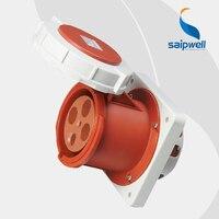 Wholesale Saipwell 4P (3P+E) 400V 125A High current IP67 EN / IEC 60309 2 connector industrial socket cee plug and socket SP1457