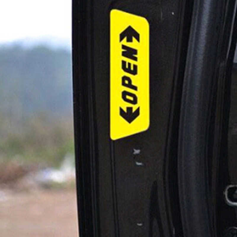 Estilo do carro etiqueta do carro adesivo refletivo aviso de segurança aberto para Mercedes-Benz A B C E S M G ML GLK CL CLK CLS e GL