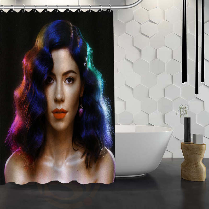 Hot Sale Custom Marina And The Diamonds Shower Curtain Waterproof Fabric Shower Curtain for Bathroom F#Y1-17 ...
