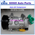 6C12 Air Conditioning Compressor for CITROEN C3/C4 PEUGEOT 207/307/308 OEM 6453QJ/6453QK/6453WK 6453WL/9651910980 9659875780