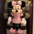 Оригинал Минни Маус игрушки 50 см Минни плюшевые игрушки милый розовый чучела животных Микки Маус подруга Минни игрушки для дети