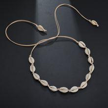 Богемное ожерелье для отдыха Женская цепочка ручной работы короткая
