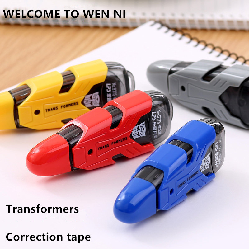 Science Fiction Colorful Transformers Correction Tape Wide-5mm Length-4M School Stationery To Kids Free Shipping