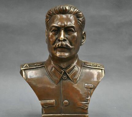 6 Russian Leader Joseph Stalin Bust Bronze Statue R07126 Russian Leader Joseph Stalin Bust Bronze Statue R0712