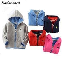 Sundae Angel Kids Jackets For Girls Hooded Polar fleece Long