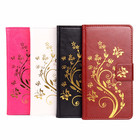 Gold Butterfly Embossed PU Leather Flip Stand Case For Huawei GR5 Honor 5X Honor Play 5X Mate 7 Mini With Wallet Slots