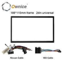 Ownice Auto DVD Audio 115X188mm Frame, Kabel voor nissan, voor Toyota, universele Kabel voor 2 Din Universele Autoradio(China)