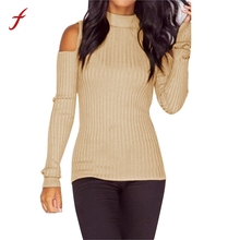 Women Fashion Long Sleeve Knitted Pullover Sueter Mujer Strapless Slim Fit Jumper Blusa Tops Sweatshirt for women 2018
