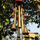 Amazing Deep Relaxing 4 Tubes Chapel Bells Wind Chimes Yard Home Decor