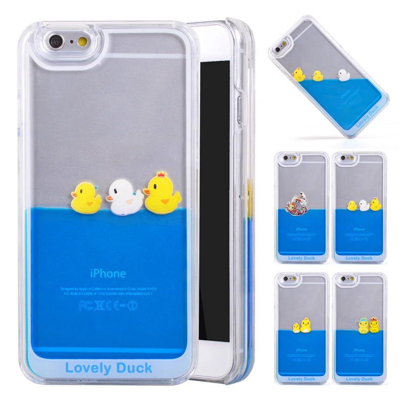 new arrival 78c15 b7412 Transparent Hard Platsic Cases For iPhone 6s case Liquid Swimming Yellow  Duck Case For iPhone 6s 6 plus Protective Back Cover
