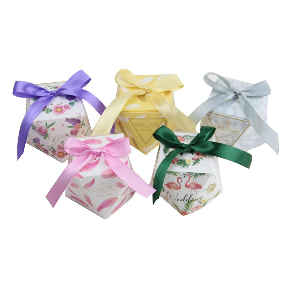 10pcs/set Octagonal Exquisite Wedding Favors Gift Box Flower Pattern ...