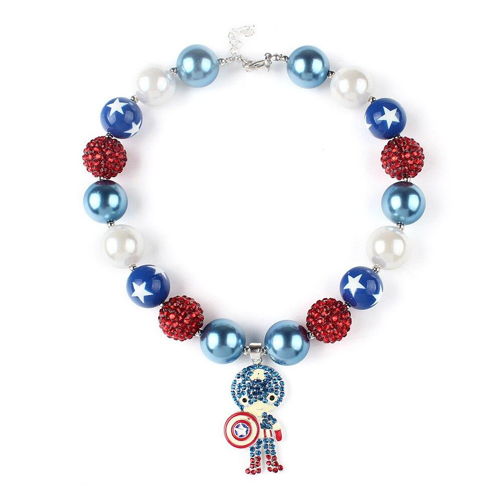 ᐂcaptain america charm alloy pendant children children