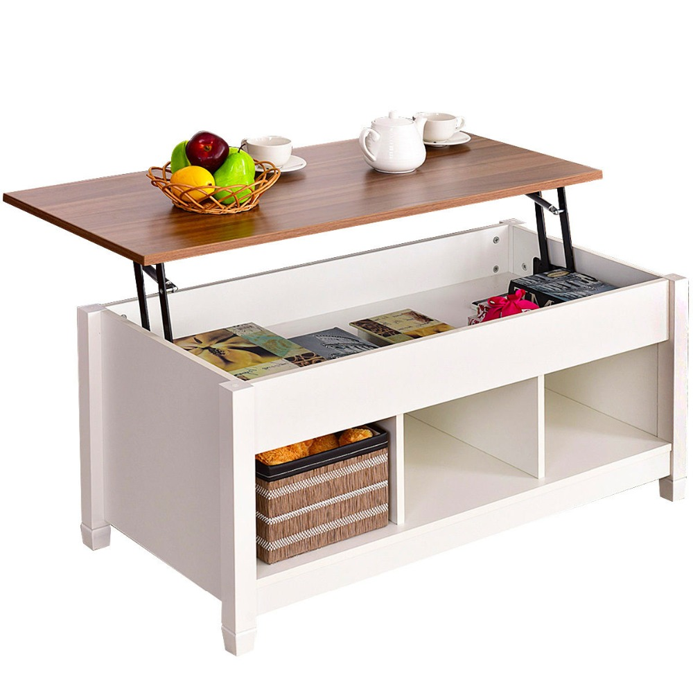 Lift Top Coffee Table Modern Furniture Hidden Compartment ...