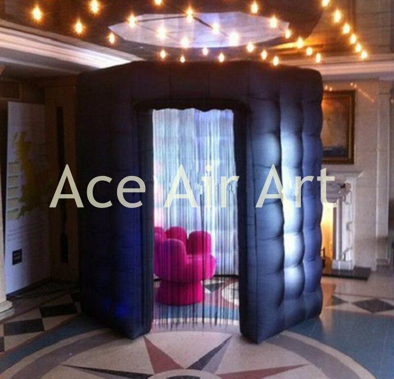 Красивые прочные черные Octagon Надувной Photo Booth корпус