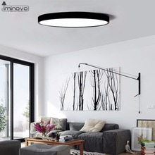 Ultra-thin 5cm LED Modern Simple Ceiling Lamp Black White Round Square Home Decoration