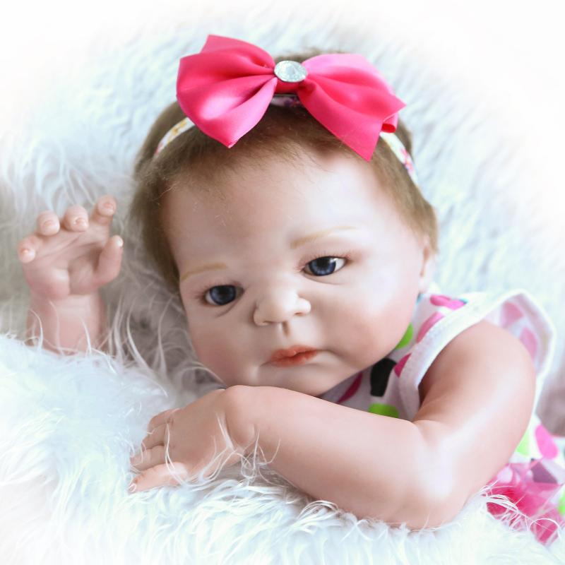 все цены на 23 Inch/57cm Full silicone body reborn babies boy Sleeping dolls Girls Bath Lifelike Real Vinyl Bebe Brinquedos Reborn Bonecas онлайн